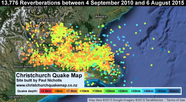 Christchurch Reverberation Map