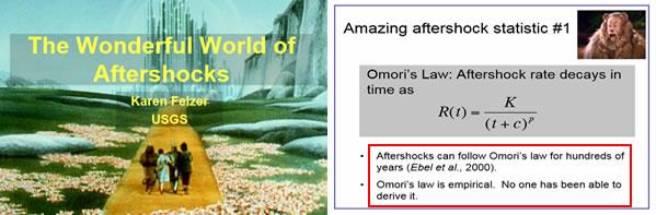 The Wonderful World of Aftershocks