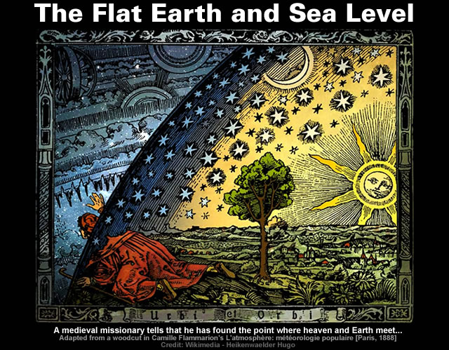 The Flat Earth and Sea Level