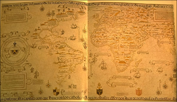 World Map by Diego Ribero - 1529