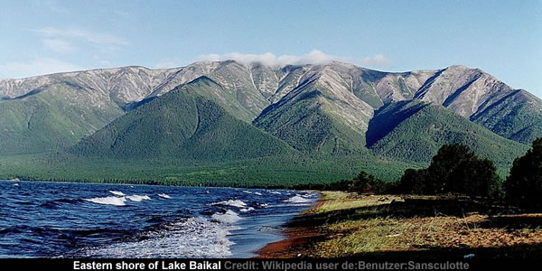 Eastern shore of Lake Baikal