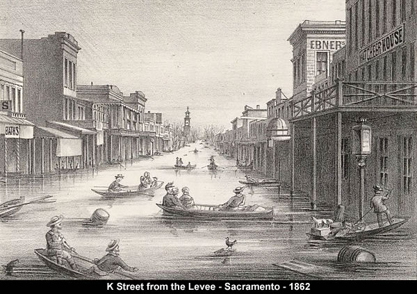 K Street from the Levee - Sacramento - 1862