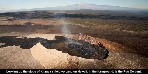 Kilauea shield volcano
