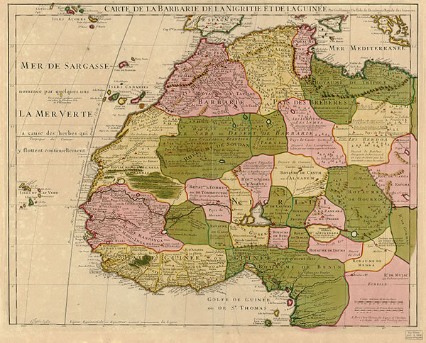 Map of North West Africa