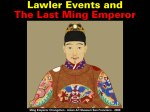 Lawler Events and The Last Ming