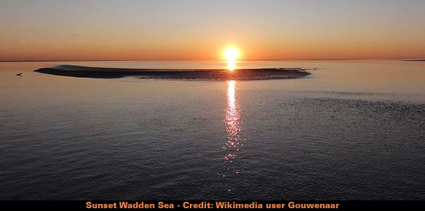 Sunset Wadden Sea