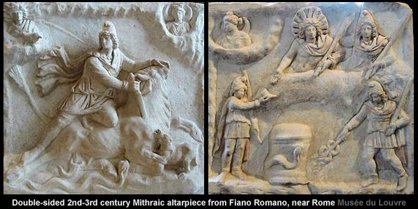Mithraic altarpiece