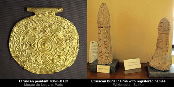 Etruscan swastika