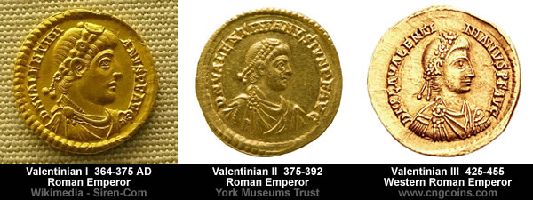 valentinian-coins