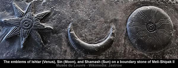 Venus - Moon - Sun