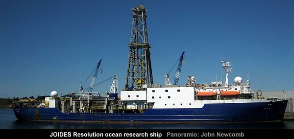 JOIDES Resolution ocean research ship