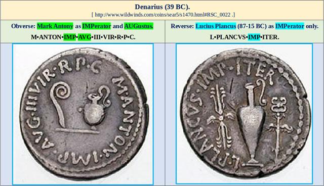 11 Denarius 39 BC | MalagaBay